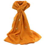 Gold Star Scarf - Gold