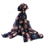 Father Christmas Scarf - Blue
