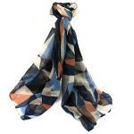 Geometric Scarf - Blue