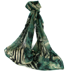 Animal Print Scarf - Teal