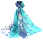 Nature Patchwork Scarf - Blue