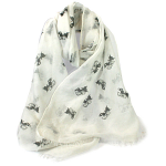Cat Friend Scarf - White