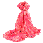 Fluffy Flamingo Scarf - Pink