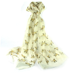 Dog Labrador Scarf - Cream
