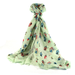 Beach Hut Scarf - Green