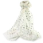 Seaside Scarf - Silver on White