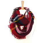 Snood Scarf - Check - Red
