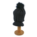Bobble PomPom Hat - Dark Blue