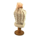 Bobble PomPom Hat - Cream