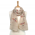 Robin and Holly Scarf - Taupe