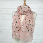 Playing Penguins Scarf - Pink