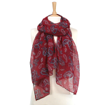 Paisley Pattern Scarf - Red