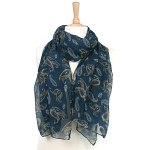 Paisley Pattern Scarf - Teal