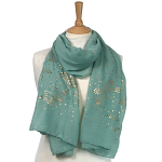 Butterfly Sequin Scarf - Green