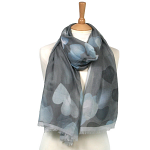 Blending Heart Scarf - Grey