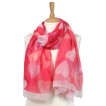 Blending Heart Scarf - Pink
