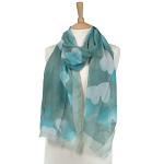 Blending Heart Scarf - Teal