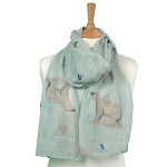 British Artist's Design - Polar Bear Scarf