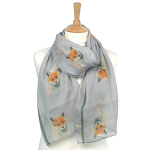 British Artist's Design - Fox Scarf