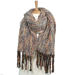 Large Winter Scarf - Multi Woven style in Pinks