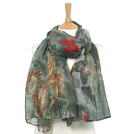 Butterfly Scarf - Grey