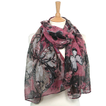 Butterfly Scarf - Pink