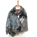 Butterfly Scarf - Black