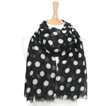 Dot Scarf with Sparkle - Black