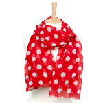 Dot Scarf with Sparkle - Red