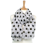 Dot Scarf with Sparkle - White