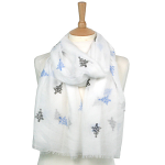 Christmas Tree Scarf - White
