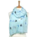 Christmas Tree Scarf - Blue