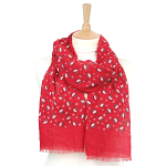 Christmas Pudding Scarf - Red