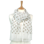 Christmas Pudding Scarf - Cream