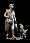 Bronze End of the Day - Hunter and Dog - Limited Edition of 250