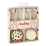 Dotty Cupcake Cases & Flags 24