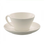 Belleek Living Ripple Teacup & Saucer