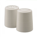 Belleek Living Ripple Salt & Pepper Set