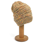 Beanie style Hat with Cosy Lining - Oatmeal