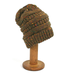 Beanie style Hat with Cosy Lining - Khaki