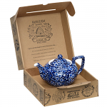 Burleigh Blue Calico Teapot Small Gift Boxed