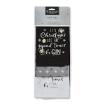 Cooksmart Christmas Let the Good Times Be Gin Tea Towels - Set of 3