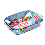 Pyrex Irresistible Glass Rectangular Roaster Easy grip 27x17cm (406B000)