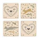 Cooksmart - Woodland Coasters - Set of 4