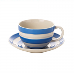 Cornishware - Cornish Blue - Breakfast Cup & Saucer