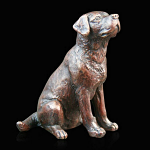 Bronze Labrador Sitting Small - Limited Edition of 250