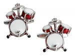 Drum Kit Red Cufflinks