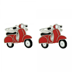 Motor Scooter Red Cufflinks