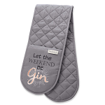 Cooksmart - Let the Weekend Be Gin Double Oven Gloves