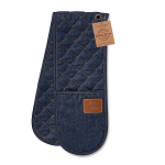 Cooksmart Oxford Vintage Denim Double Oven Gloves